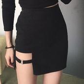 skirt,black,high waisted black skirt,black skirt,cute,tumblr,korean street sty le,korean street fashion,korean street fahsion