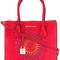 Michael michael kors - mercer medium tote - women - leather - one size, red, leather