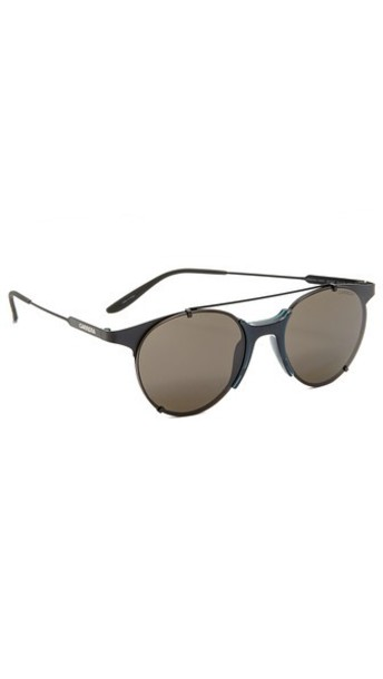 Carrera Round Sunglasses in black / brown