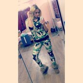 blouse,camouflage,skull,iswag,suit,top pants