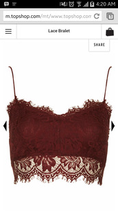 top,maroon/burgundy,bralet top