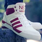 shoes,adidas,adidas neo,white,red,adidas shoes