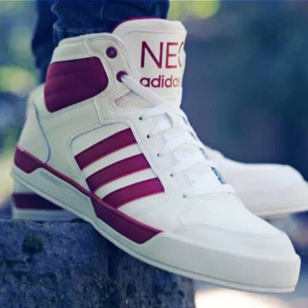 best sneakers ae2a1 e4896 shoes adidas adidas neo white red adidas shoes