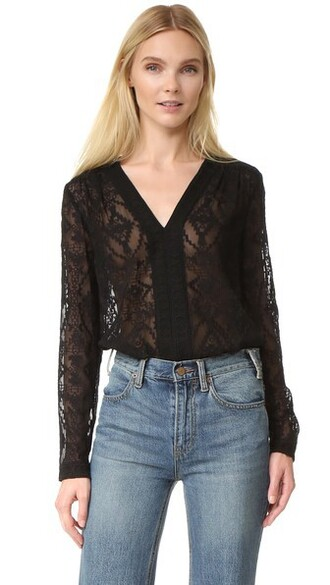 top long embroidered black