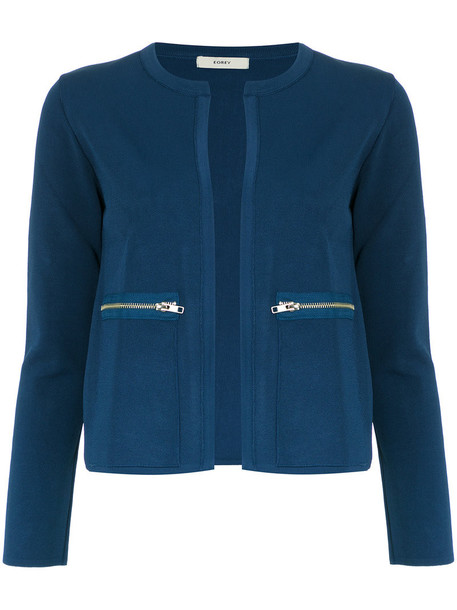 EGREY jacket women spandex blue knit