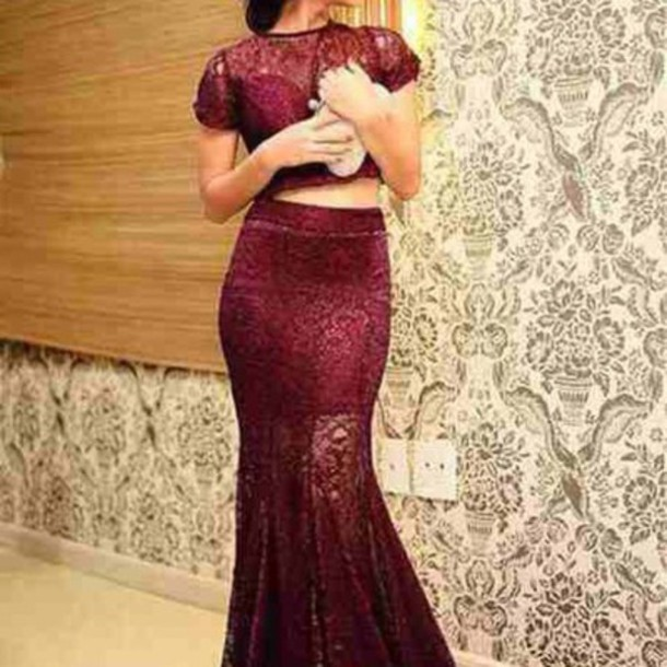 dress prom dress maxi dress wine colored dress