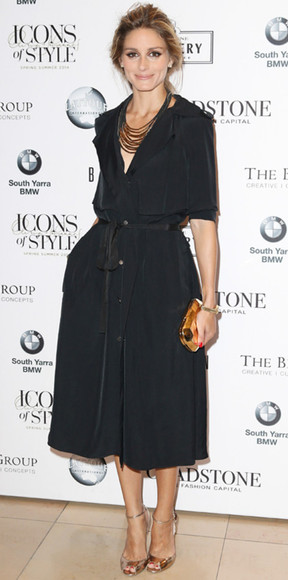 dress olivia palermo black shirt dress