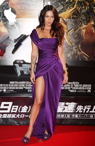 megan fox dress prom dress purple dress satin