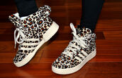 shoes,adidas,sneakers,leopard print,adidas jeremy scott,jeremy scott,adidas shoes,adidas wings,animal print,bag