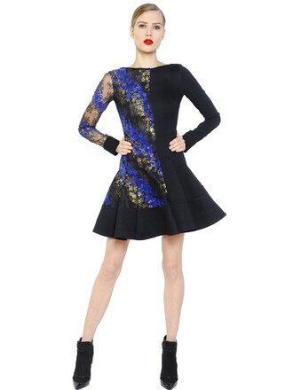 dress lace blue black