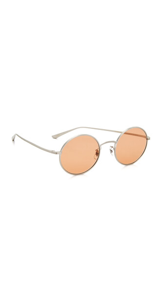 sunglasses silver pink