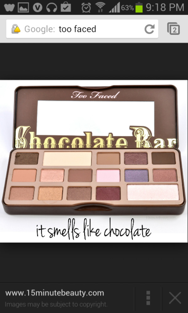 sephora too faced the chocolate bar eye palette