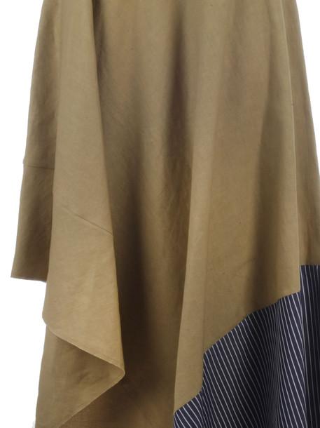 Loewe Asymmetric Skirt Stripe Panel in blue / beige / white / beige