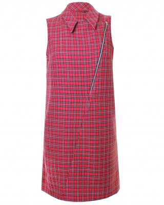 LOVE Red Tartan Biker Dress - In Love With Fashion