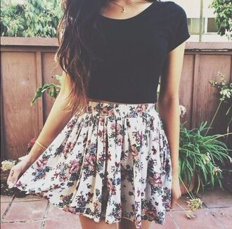 skirt girly spring spring outfits summer summer outfits summer skirt spring skirt floral floral skirt floral print skirt floral pattern floral pattern skirt iwantit nice cute summery top