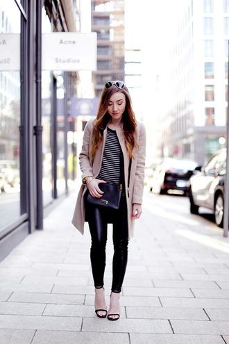 flirting with fashion blogger coat pants sweater shoes bag sunglasses