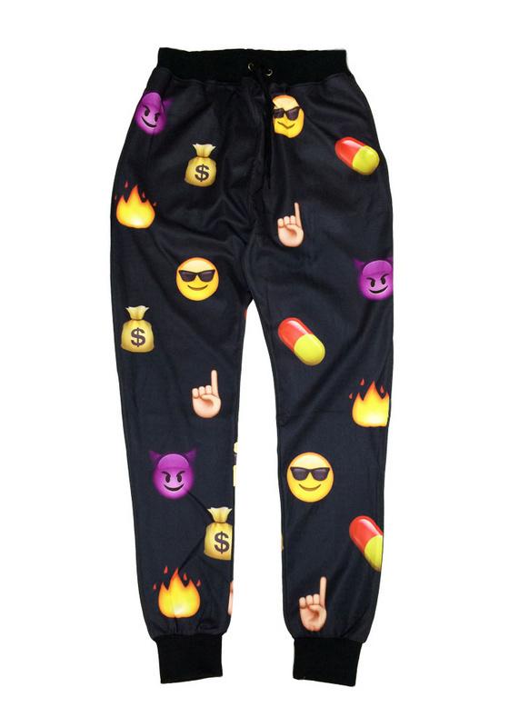 Lethalbeauty ? emoji joggers