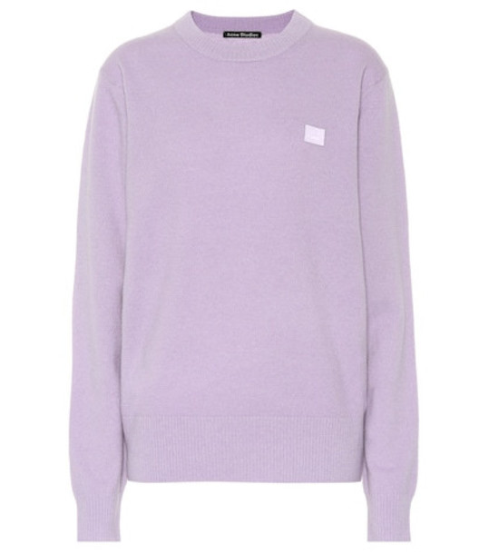 Acne Studios Nalon Face wool sweater in purple