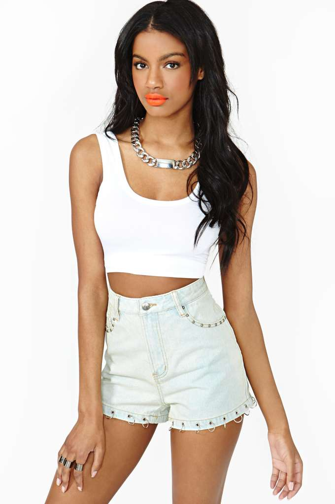Evil Twin Overload Denim Shorts | Shop Bottoms at Nasty Gal