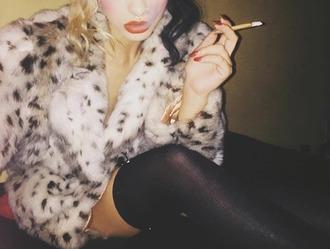 coat melanie martinez vintage fur leopard print faux fur coat