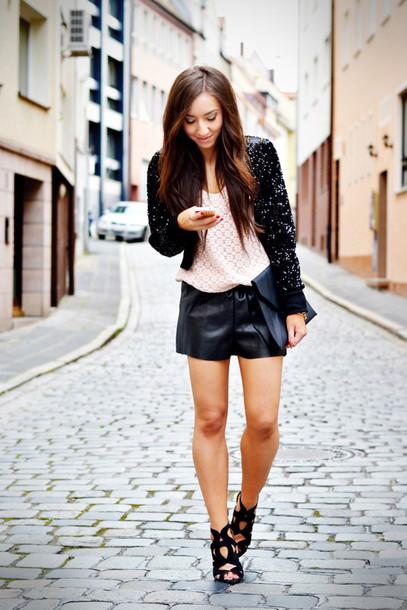flirting with fashion jacket t-shirt shorts shoes bag