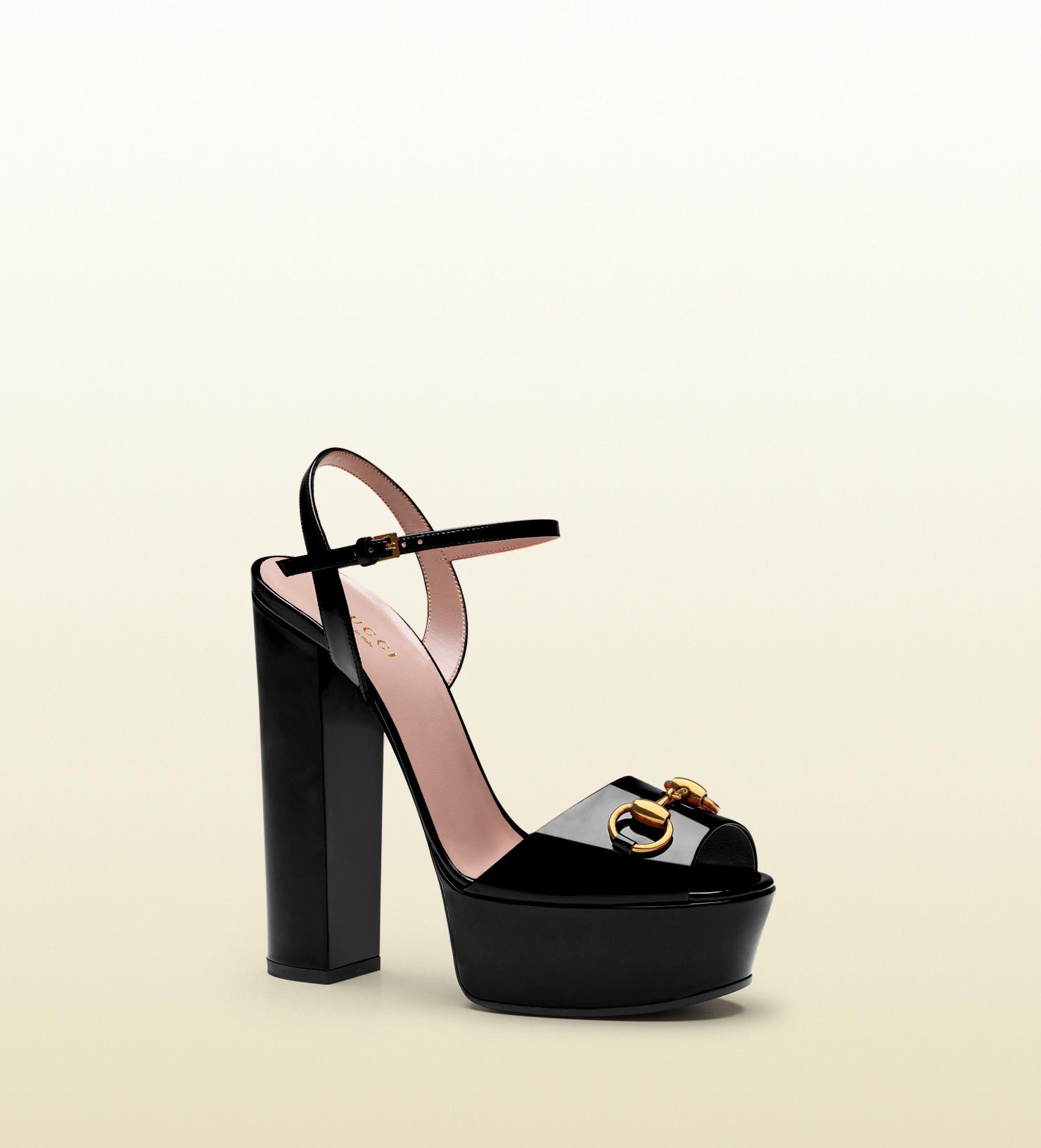 908a0d308f Gucci - patent leather platform sandal 338961BNC001000