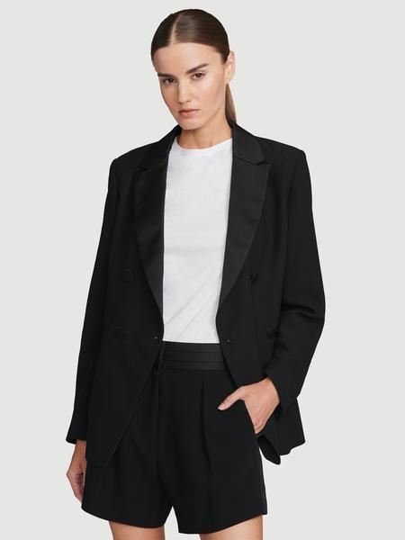 Tux Satin Blazer Noir