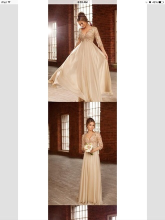 dress beige dress prom dress long prom dress