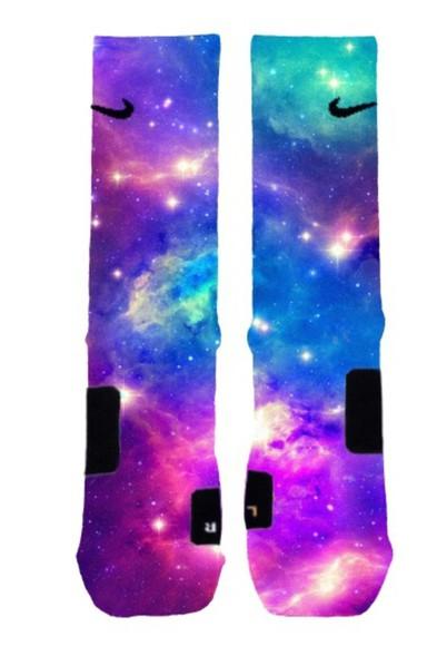 galaxy print socks