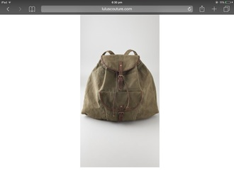 bag backpack khaki