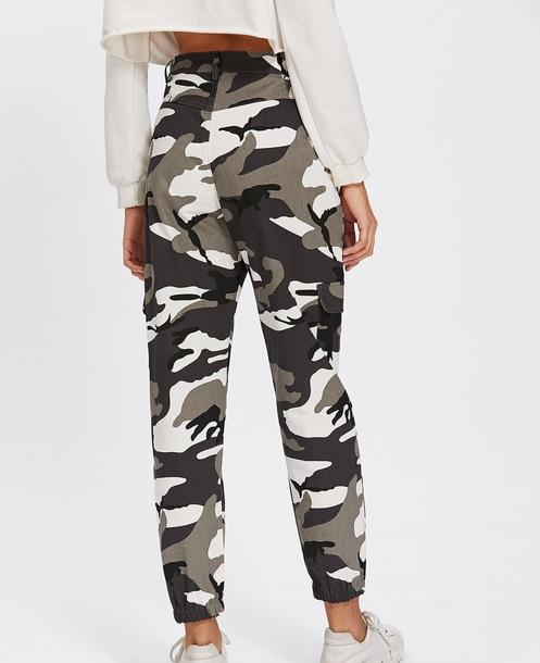 pants girly trendy camouflage camo pants