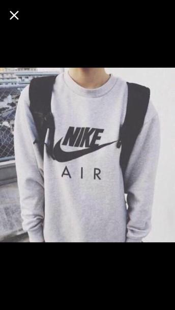 sweater nike air gray mens sweater grey sweater nike