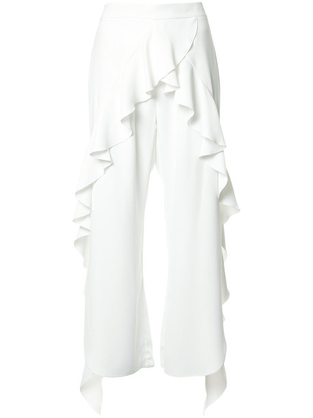 GOEN.J women slit white pants