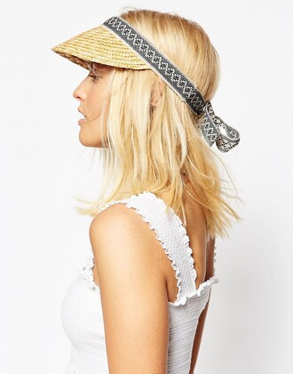 hat visor straw hat