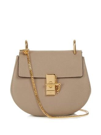 cross bag leather grey