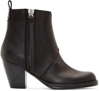 matte pistol boots leather black shoes