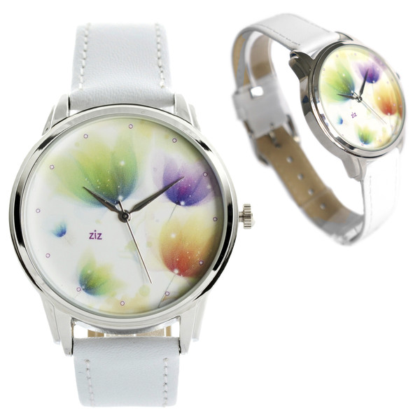 jewels watch watch romantic watch flowers white white watch leather watch designer watch beautiful watch cute watch unusual watch unique watch ziziztime ziz watch