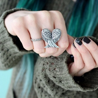 jewels ring accessories wings silve