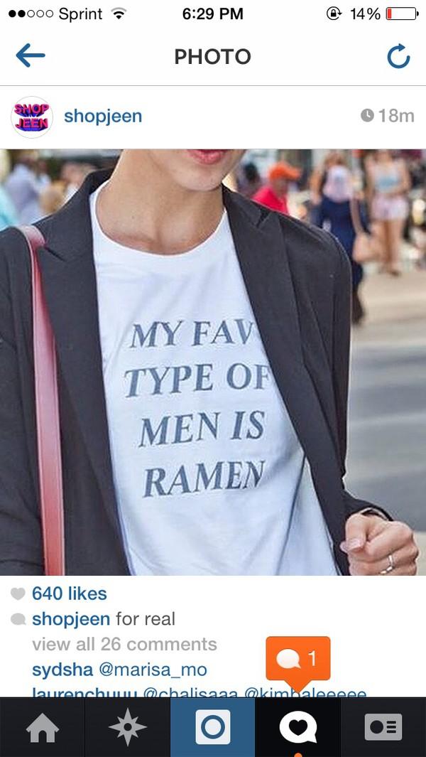 t-shirt t-shirt ramen noodles ramen noodles