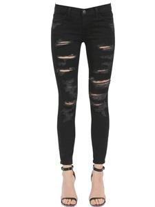 The stiletto destroyed denim jeans