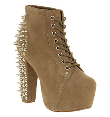 Jeffrey Campbell Lita Platform Ankle Boot Spike Taupe - Ankle Boots