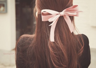 hair accessory bows hair bow cute dusty pink date outfit hair/makeup inspo wedding hairstyles