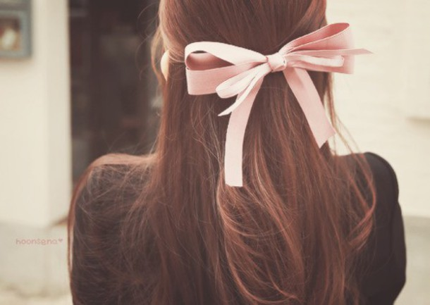 Strange Hair Accessory Bows Hair Bow Cute Dusty Pink Date Outfit Hairstyles For Women Draintrainus