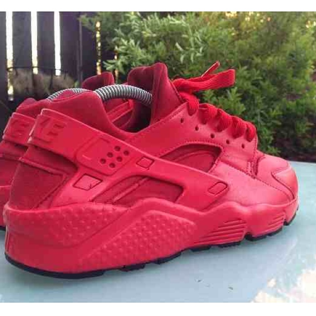 All red/black sole (customised) huaraches. fresh new pair with box, ...
