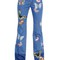 Butterfly patches cotton denim jeans