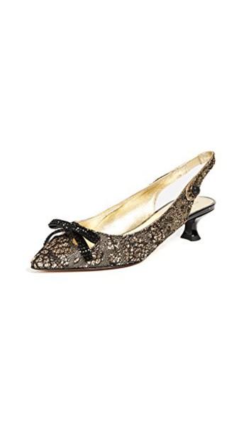 Marc Jacobs pumps gold shoes