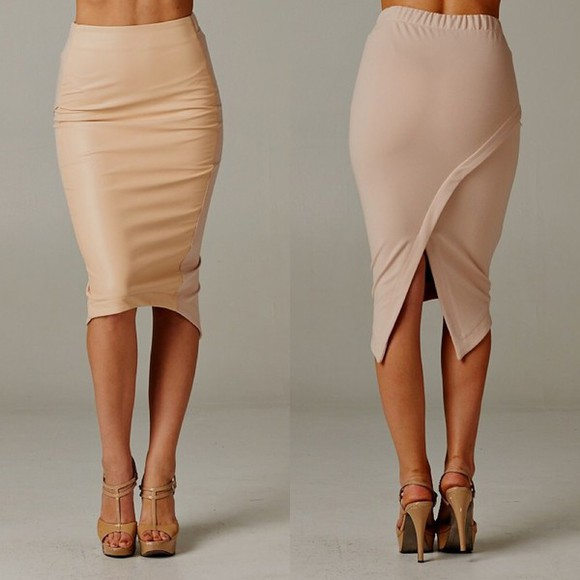 celine blogger skirt pretty little liars nude fashion celebrity dresses preppy clubwear high-low dresses wedding clothes