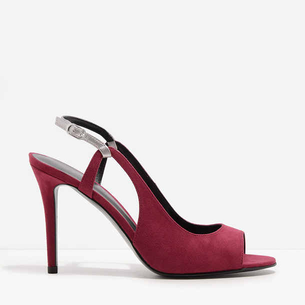 slingbacks red shoes