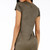 Suede Deep V Neck Fitted Dress