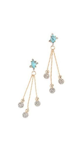 Alexis Bittar ball earrings gold jewels